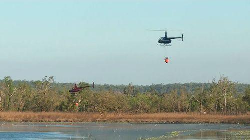 Water bombers working to extinguish the blaze. (9NEWS)
