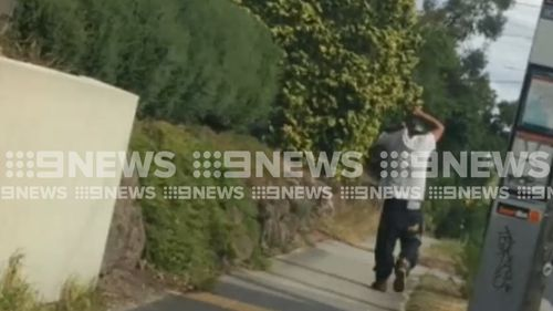 The man was arrested on Wantirna Road in Ringwood. (9NEWS)