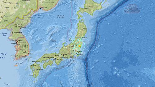 Magnitude 5.5 quake strikes near Japan's east coast, USGS reports
