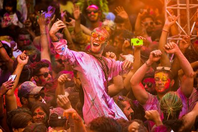 Holi brings tourists from all over the world to locations that partake in celebrations.