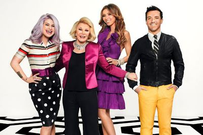The queen of <i>Fashion Police</i>!<br/><br/>In 2010, Joan headed up the <i>E!</I> fash-show alongside co-hosts Giuliana Rancic, Kelly Osbourne and George Kotsiopoulos. <br/><br/>Who didn't tune in for a Rivers' often-vicious commentary of fellow A-listers' red carpet hits and misses? <br/>