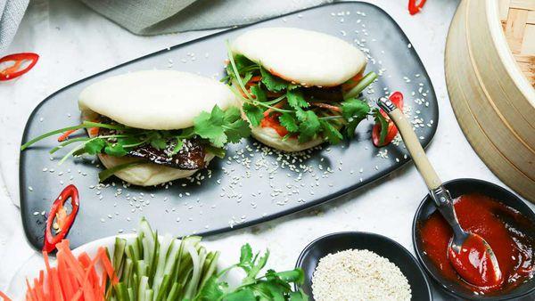 The Giles' Sticky Pork Bao Bun