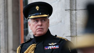 The Duke of York at a memorial in Bruges to mark the 75th Anniversary of the liberation of the Belgian town.