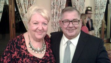 Australians Yvonne Gracey-Hall and Barry Gracey. (Facebook/Pozieres Remembrance Association Australia)