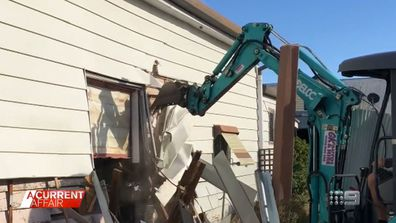 Brothers film themselves demolishing family home over will dispute.