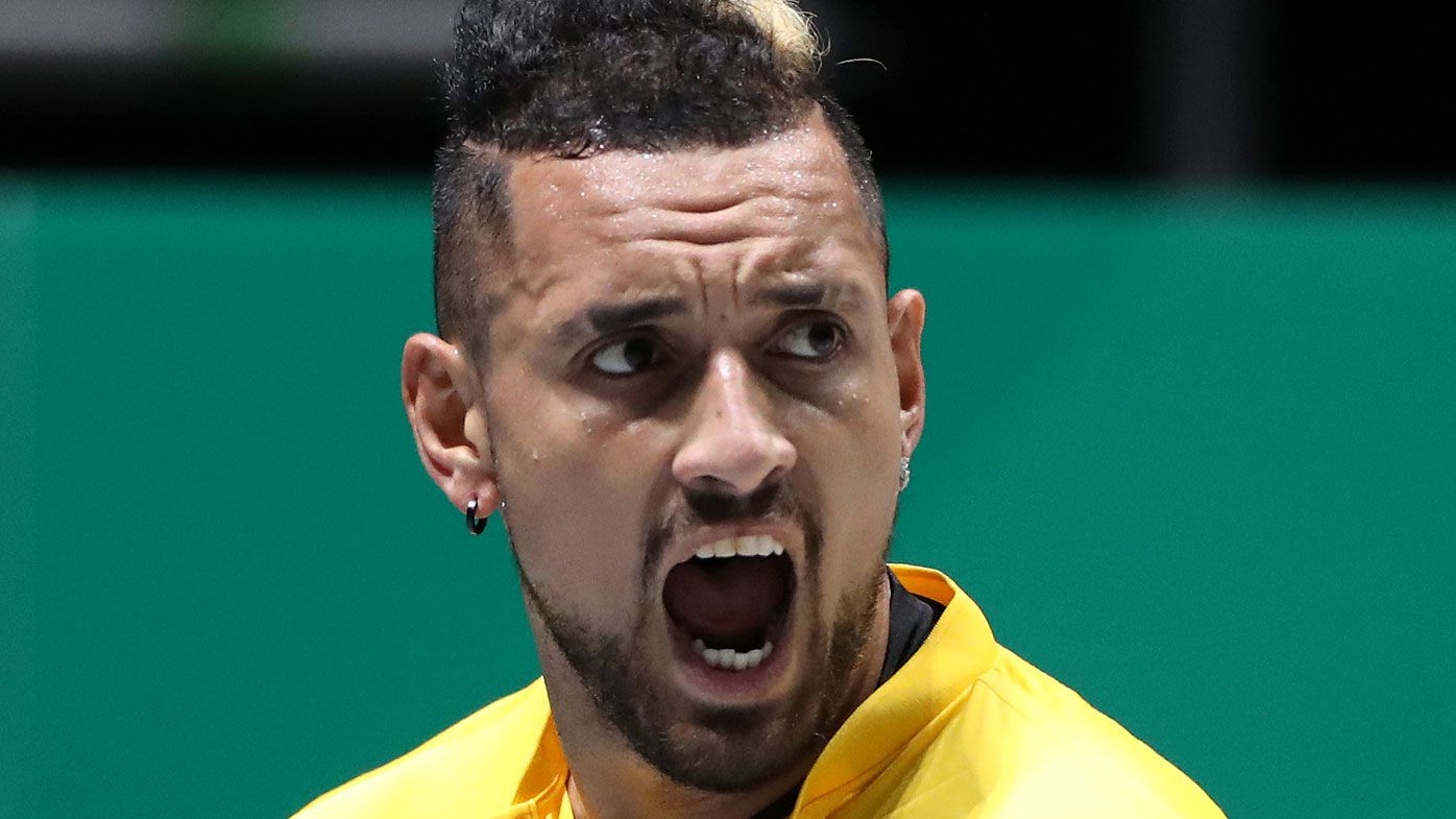 Aussies Nick Kyrgios, Alex de Minaur win Davis Cup opener against Colombia