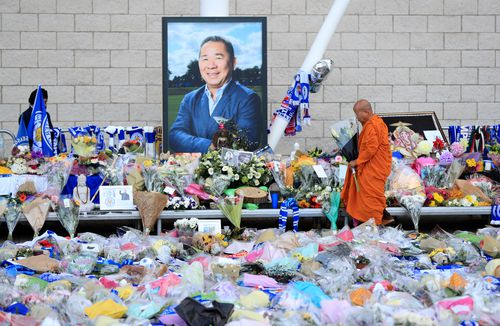 Mourners lined King Power Stadium with rows of flowers and tributes to the club's owner this week.