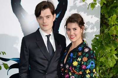 <i>Control</i> star Sam Riley, who plays Diaval in <i>Maleficent</i>, also made an appearance with his sister Annabel.