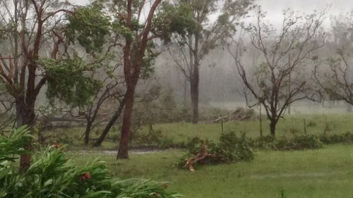 Yeppoon was only supposed to be 'grazed' by Cyclone Marcia, but a number of residents have reported severe damage to their properties. (Supplied: Natalee Smith)