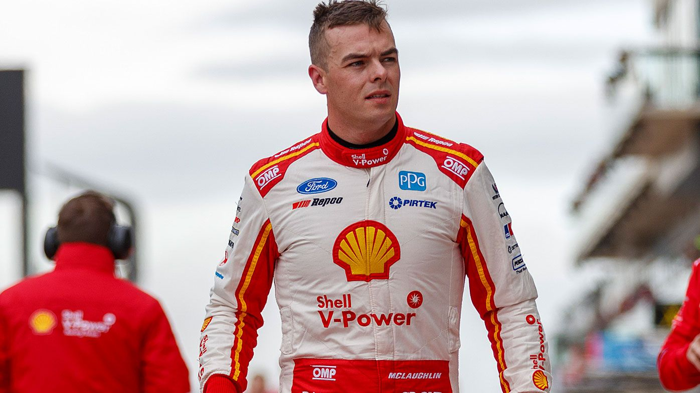 Supercars driver Scott McLaughlin, winner of race 1, during the OTR SuperSprint The Bend Event