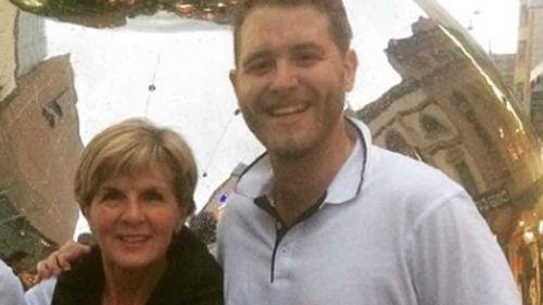 Jack Walker with Julie Bishop. (Instagram)