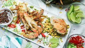 Family Food Fight: The Giles' Vietnamese Crab with Corn Salad
