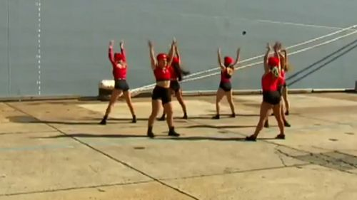 The dancers performed at the commissioning ceremony for the HMAS Supply.