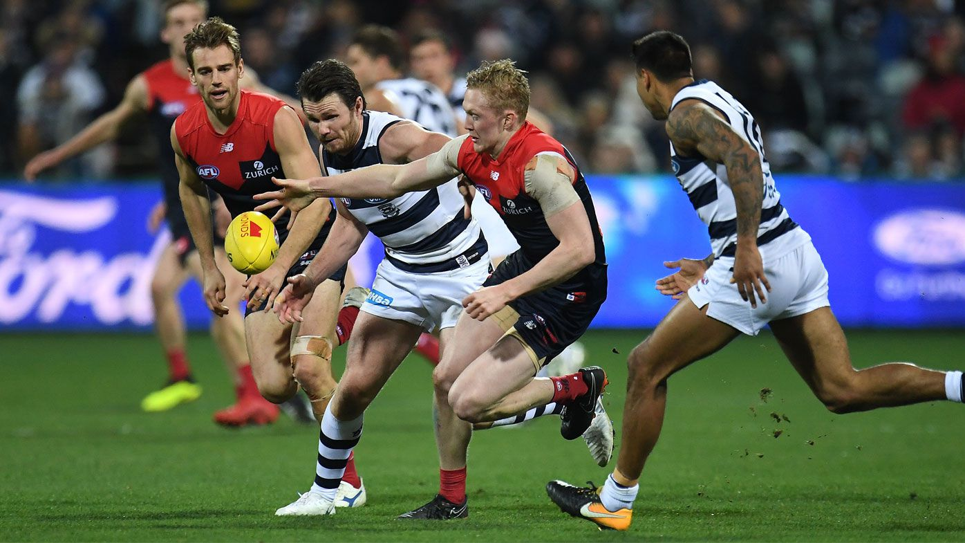Hawkins stars as Cats win AFL thriller