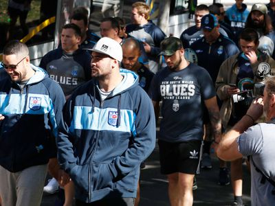 The NSW Blues took their team walk in Brisbane today.
