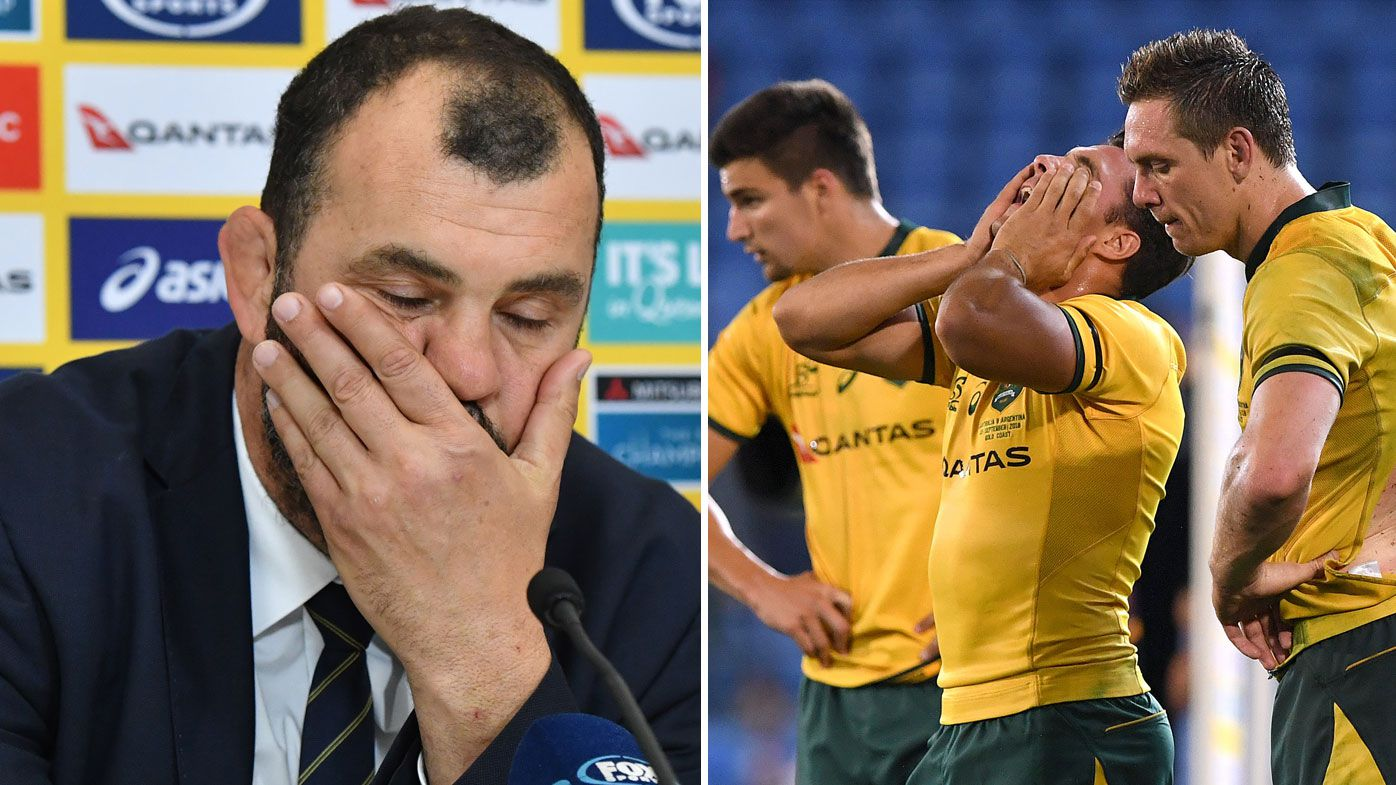 Former Wallabies captain Stirling Mortlock backs coach Michael Cheika as ranking slips to all-time low