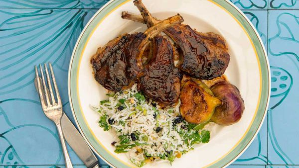 Poh's spiced cumin lamb cutlets with coconut mint relish recipe for MLA