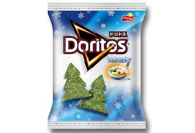 Christmas tree Doritos