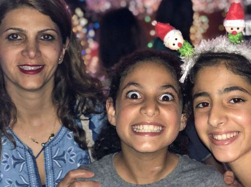 Mother Reem Aldieri with twins Hareer and Mesk.