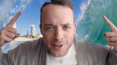 At one point Hamish Blake even suggests he'd take up surfing.