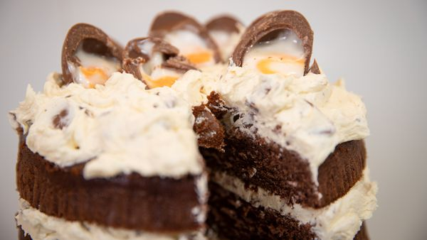 This is the creme egg chocolate cake you need