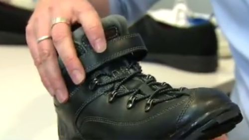The prototype for the shoes was 10 years in the making. (9NEWS)