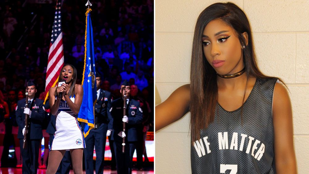 Sixers apologise for anthem controversy