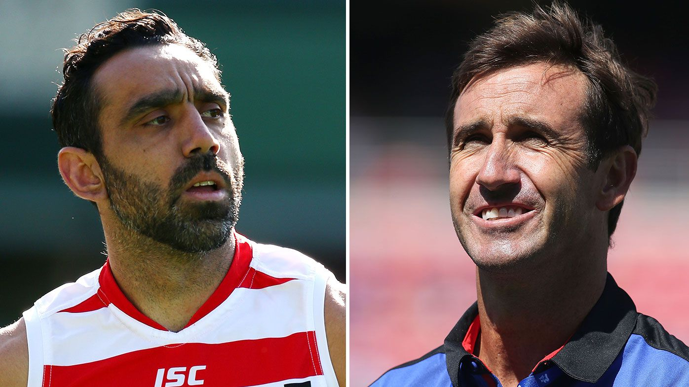 Andrew Johns and Adam Goodes team up to mentor young rugby league duo