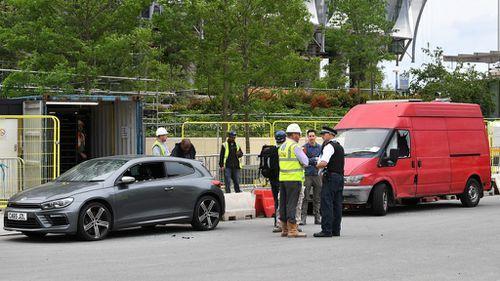 Police conduct blast explosion at US London embassy building site
