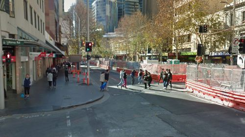 """Anna had removed her high heels was waiting to cross the George Street and Ultima Road intersection when she felt """"pins and needles"""" all over her body. Picture: Google Maps"""