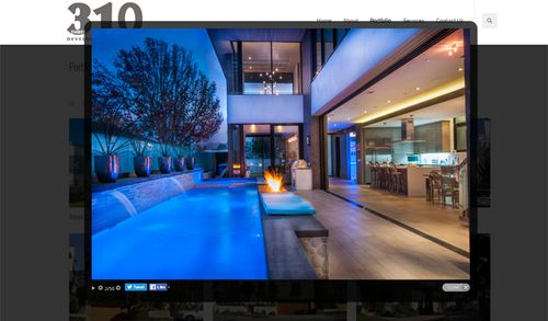 A private beach home owned by Owen Hanson, featured on the website 3Ten Development, a real estate development firm he headed up with Charles D'Agostino. Source: 3Ten Development