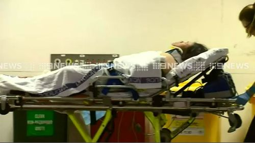 A 20-year-old woman was taken to the Royal Melbourne Hospital. (9NEWS)