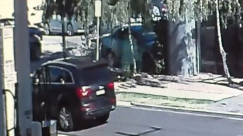 The black Audi was later found burnt out. (9NEWS)