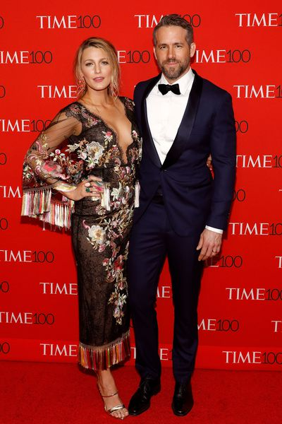Blake Lively and Ryan Reynolds at the<em> Time 100</em> Gala at the Lincoln Center on April 25, 2017&nbsp;