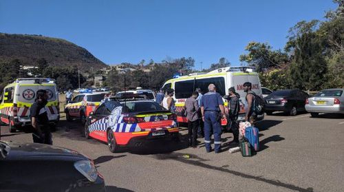 A man was pulled from the water in Stanwell Park, south of Sydney.