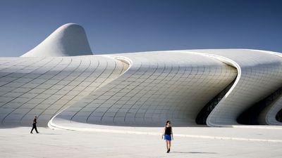 The Heydar Aliyev Center in Baku, Azerbaijan.
