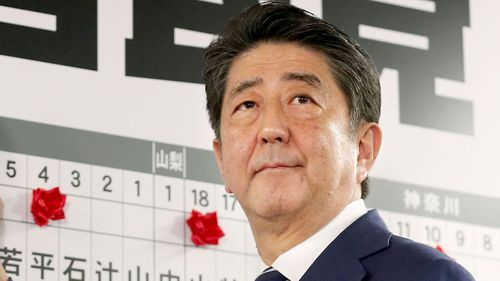 Prime Minister Shinzo Abe of Japan. The east Asian nation will be the main export market for the hydrogen.