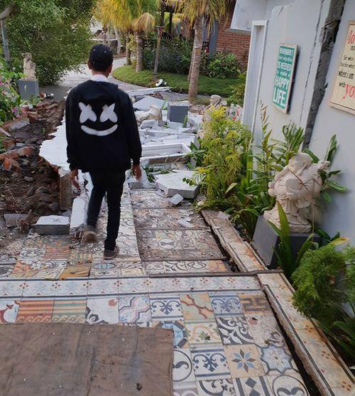 Melbourne man Dale Maffescioni said the quake destroyed entire hotels. Picture: Supplied