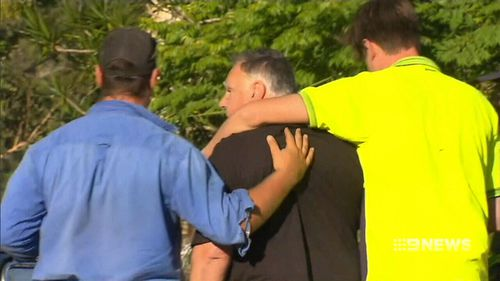 The family will stay with neighbours in the coming days. (9NEWS)