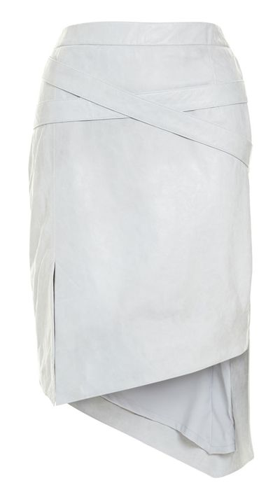 "<a href=""http://www.willowltd.com/belted-leather-skirt-9339449275559.html"">Belted Leather Skirt, $650, Willow</a>"
