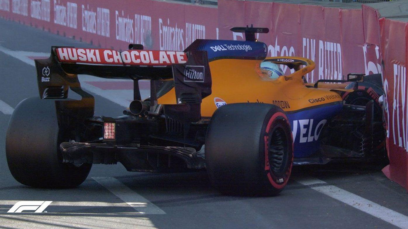 'Big disappointment': Daniel Ricciardo crashes out during qualifying for the Azerbaijan GP