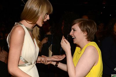 """Lena Dunham was always a fan of Taylor Swift. """"I feel like she and I are artistic kindred spirits,"""" the <i>Girls</i> star said in a pre-fame interview a few years ago. """"She may not know it yet ... I'd love to tell her."""" <br/><br/>The friend-crush paid off and now that Lena's famous, Taylor has started hanging out with her!<br/><br/><a href=""""http://celebrities.ninemsn.com.au/antibullying"""">Want to win an iPad? Take our quiz!</a>"""