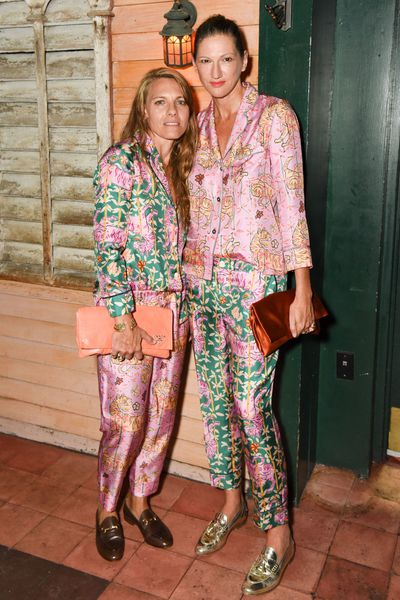 <p>Former J.Crew President Jenna Lyons and Courtney Crangi made a splash  in matching floral pajamas from Drake for J.Crew at New York Fashion Week in September 2016.</p> <p></p> <p></p>