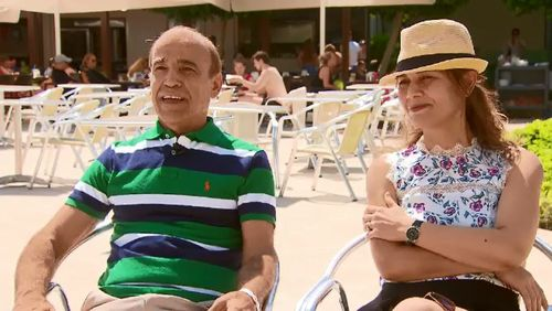 Arzani's parents, John and Sima, are equally as excited and will be front-and-centre to watch him take on some of the world's best players. Picture: 9NEWS.