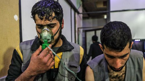 Victims of the suspected chemical weapons attack near Damascus. (AP).