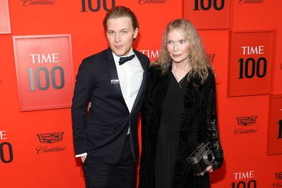 Mia Farrow and son Ronan Farrow at Frederick P. Rose Hall, Jazz at Lincoln Center on April 23, 2019 in New York City.