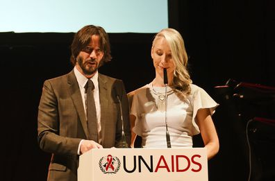 Keanu Reeves, Alexandra Grant, gala