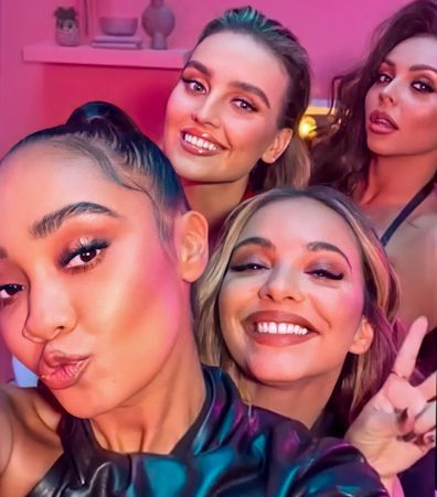 Little Mix stars from left to right: Leigh-Anne Pinnock, Perrie Edwards, Jade Thirlwall and Jesy Nelson.