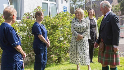 Prince Charles meets with healthcare workers in Scotland