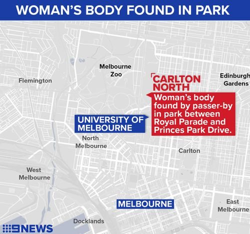 The body was found near a popular running track. (9NEWS)